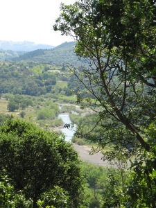 View of Russian River at Healdsburg Ridge