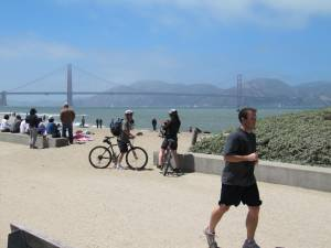 Beach with Golden Gate Bridge