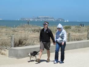 Beach at Presidio looking to Alcatraz