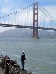 Fishing near Golden Gate