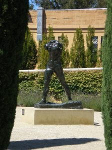 Rodin in Cantor Arts garden