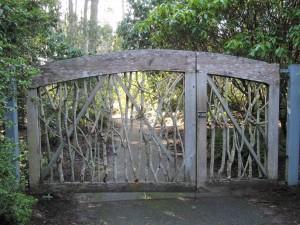 Gate at Ft Bragg Botanical Gardens