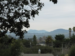 View form Oak Hill Park to Mt St Helena