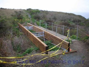 New Bridge on Kortum Trail near Shell Beach
