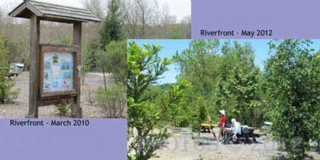 Before and after picture of Riverfront