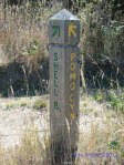 Trail sign Shell Beach or Pomo Canyon