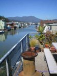 Sausalito Floating Homes with Mt Tam