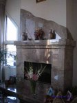 Sausalito Floating Homes - marble fireplace surround