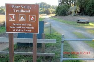 Bear Valley trailhead Pt Reyes