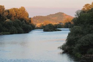 Willamette River at Sunset