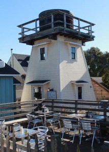 Mendocino cafe and Water Tower