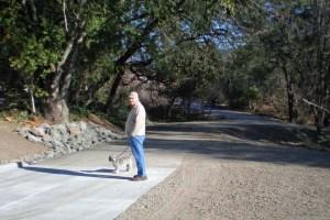 Trailhead to new Santa Rosa Creek trail