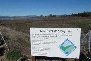 Bay Trail Napa River sign