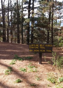 Jacks Peak trail sign