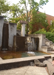 UO Waterfall sculpture