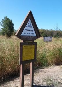 signs for Fern Ridge Wildlife