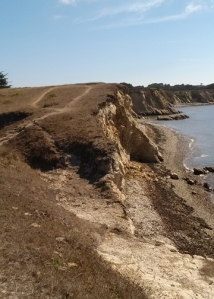 Crumbly cliff and path