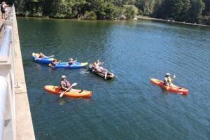 Woahink kayakers