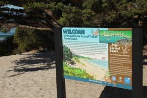 Carmel beach sign m 2063