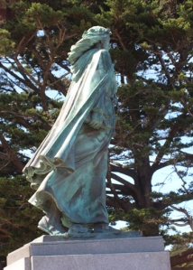 Santa Rosalia patron saint of Italian fisherman statue m 2055