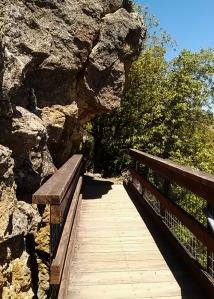 Bridge under rock Mt Tam