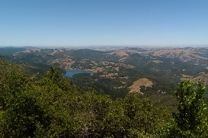 View North to Bon Tempe Lake