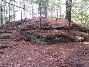 M rock mound