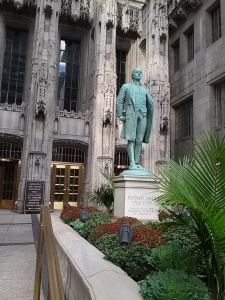 Nathan Hale at Tribune Tower