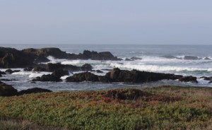 Waves Rocks by Glass Beach m