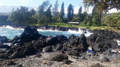 Ke'anae Lava beach