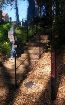 Stairs to Main Post