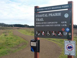 Coastal Prairie trail sign